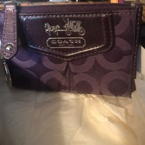 Coach Signature Logo Key Case NEW!